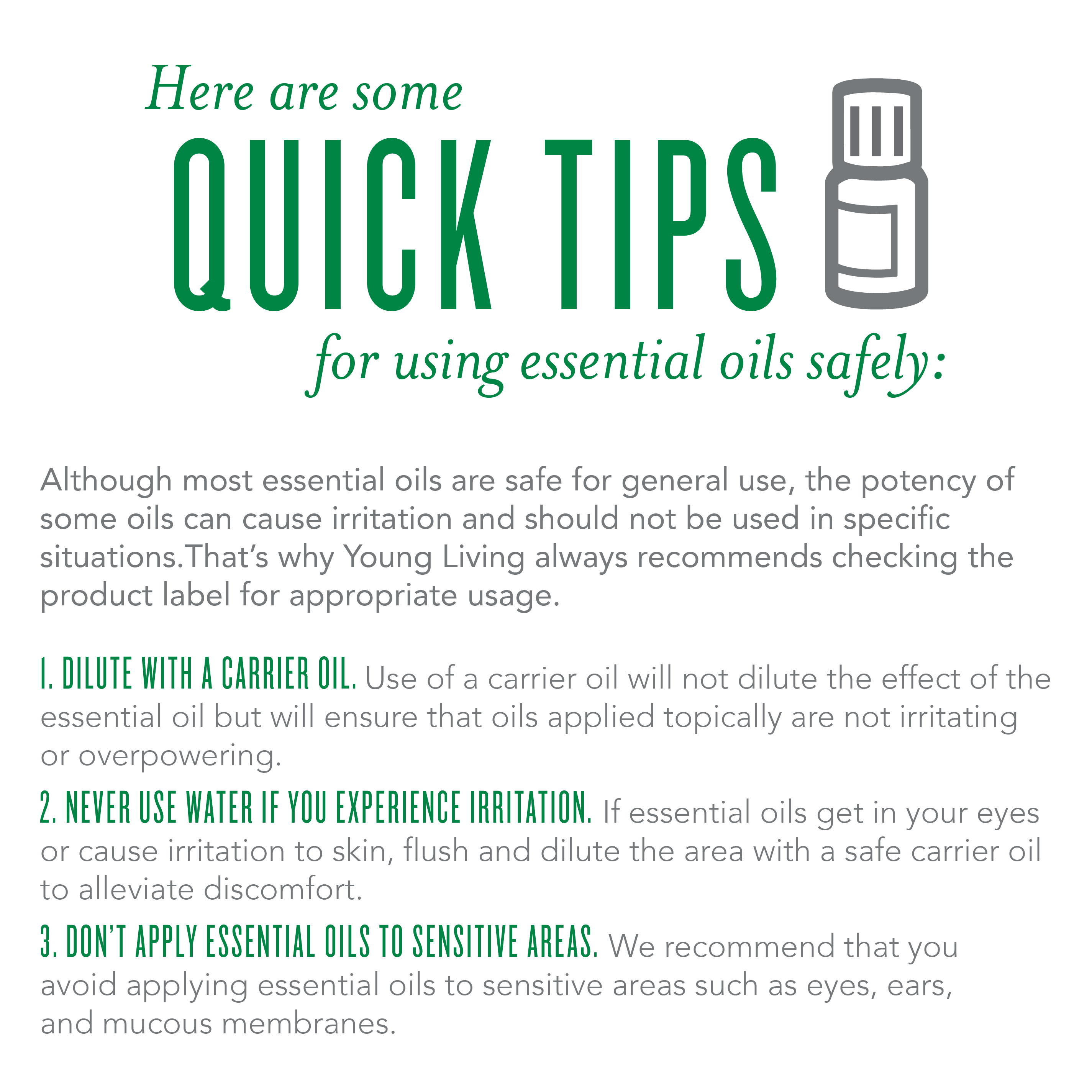 Quick tips for using essential oils safely