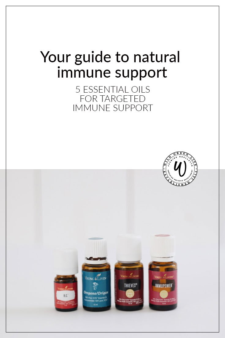 Your guide to natural immune support: 5 essential oils for targeted immune support. Plus: DIY cold and flu bomb capsules!