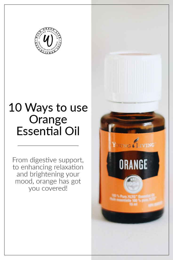 10 ways to use orange essential oil! From digestive support, to enhancing relaxation, and brightening your mood, orange has got you covered!