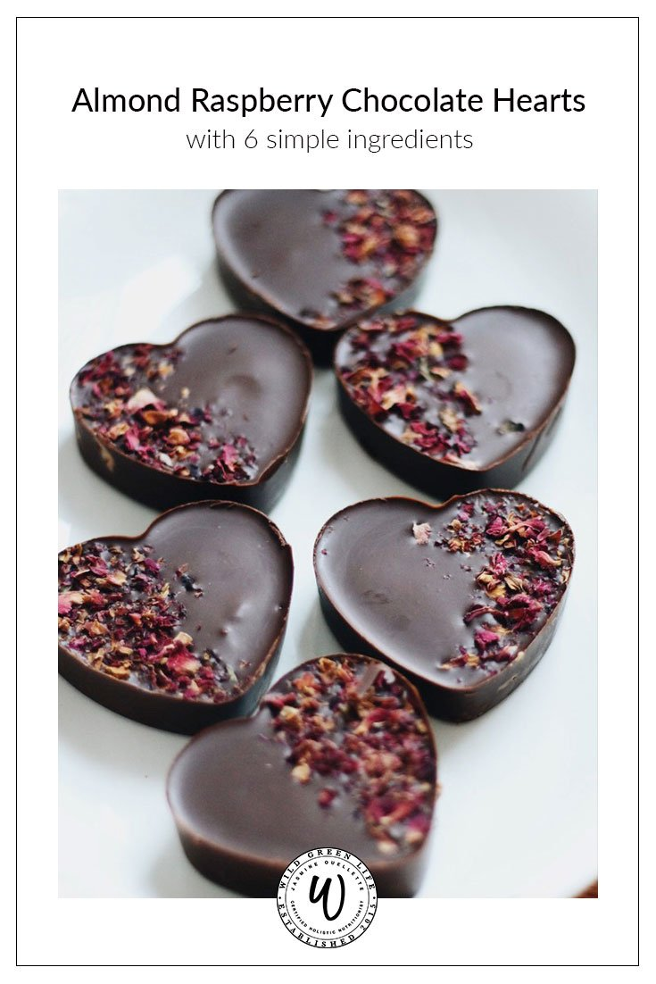 Almond Raspberry Chocolate Hearts