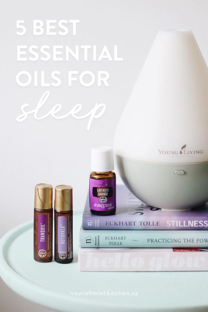 5 Best Essential Oils for Sleep and how to use them to get the best sleep ever! Plus bedtime tips to help you wind down for the night.