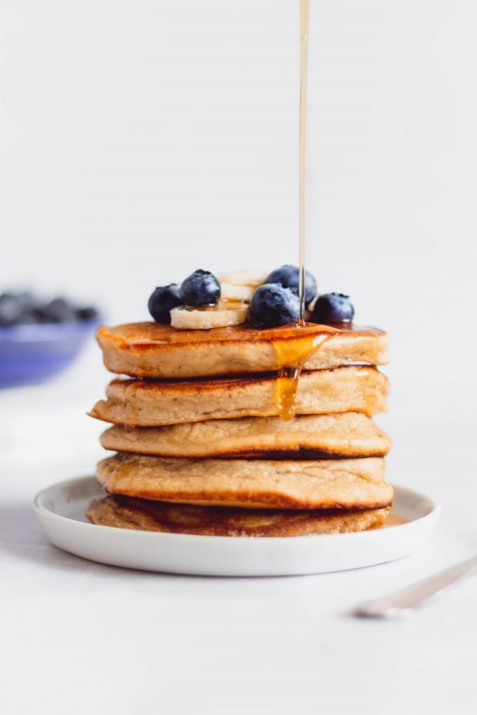The best coconut flour gluten free pancakes ever! These fluffy pancakes are delicious, healthy, and perfect for Sunday morning brunch.