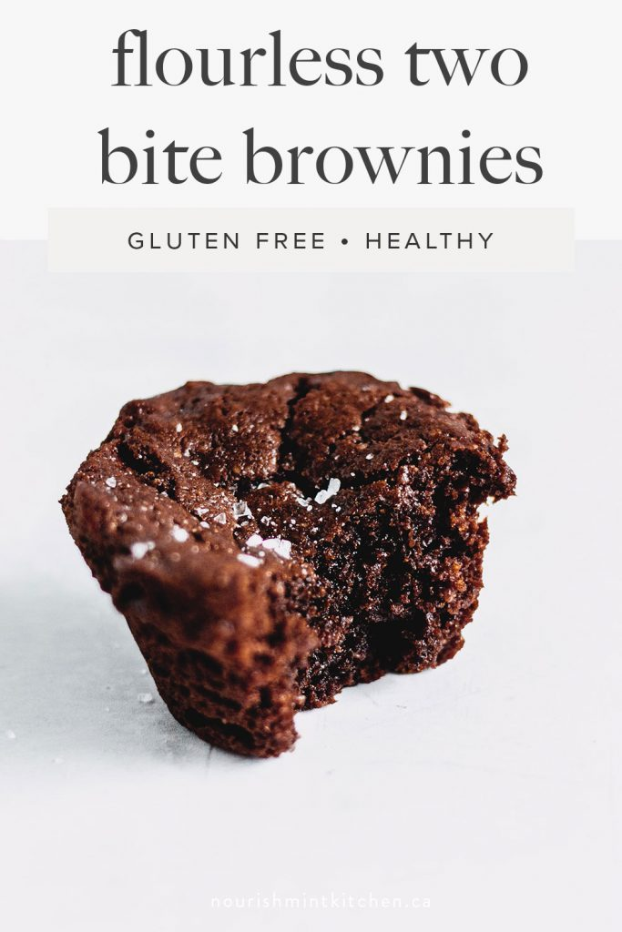 paleo brownie bite, with a bite taken out of it